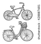 bicycle vector hand drawn... | Shutterstock .eps vector #428887681