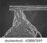 chinese noodles and chopsticks  ... | Shutterstock .eps vector #428887699