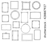 hand drawn frames set. cartoon... | Shutterstock .eps vector #428887927