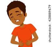 african american little boy... | Shutterstock .eps vector #428889679