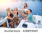people with drinks taking... | Shutterstock . vector #428893069