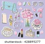 fashion accessories set.... | Shutterstock .eps vector #428895277