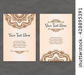 set of vector design templates. ... | Shutterstock .eps vector #428895391