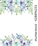 frame with watercolor violet... | Shutterstock . vector #428896231