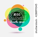 thank you followers template... | Shutterstock .eps vector #428899345