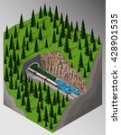 vector isometric illustration... | Shutterstock .eps vector #428901535
