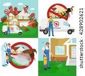 pest control illustration set ... | Shutterstock .eps vector #428902621