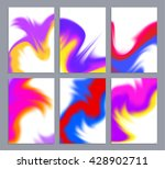 set of templates with artistic... | Shutterstock .eps vector #428902711