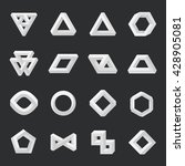 set of impossible shapes.... | Shutterstock .eps vector #428905081