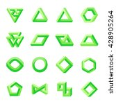 set of impossible shapes.... | Shutterstock .eps vector #428905264