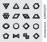 set of impossible shapes.... | Shutterstock .eps vector #428905297