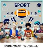 league sport fitness exercise... | Shutterstock . vector #428908837