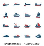water transport web icons for... | Shutterstock .eps vector #428910259
