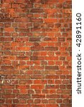 Colorful old British red brick wall background. - stock photo