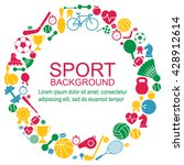 circle of sports icons. sport... | Shutterstock .eps vector #428912614