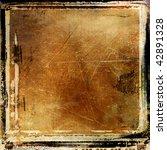 grungy framed background - stock photo