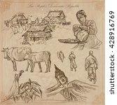 travel collection. laos... | Shutterstock .eps vector #428916769