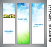 set of three banners with... | Shutterstock .eps vector #428918125