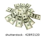 isolated money on a white... | Shutterstock . vector #42892120