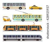 municipal city transport vector ... | Shutterstock .eps vector #428925937