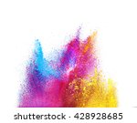 explosion of colored powder ... | Shutterstock . vector #428928685