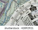 Close Up Of Vfr Navigation Tools