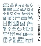 furniture and sanitary line... | Shutterstock .eps vector #428929639