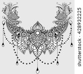 template for tattoo design with ... | Shutterstock .eps vector #428932225