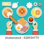 breakfast vector concept with... | Shutterstock .eps vector #428934775