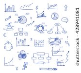 hand drawn business doodle set... | Shutterstock .eps vector #428941081