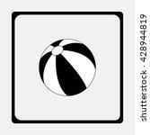 beach ball icon. | Shutterstock .eps vector #428944819