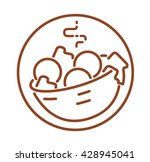 falafel icon. near east...   Shutterstock .eps vector #428945041