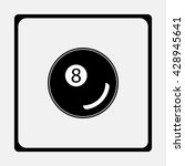 billiards 8 ball pool flat icon ...