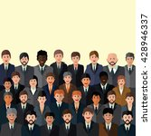 a crowd of people in business... | Shutterstock .eps vector #428946337