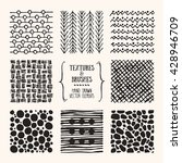 hand drawn textures and brushes.... | Shutterstock .eps vector #428946709