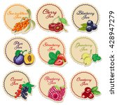 set of isolated labels for jam... | Shutterstock .eps vector #428947279