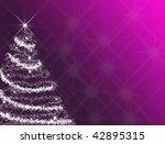 Mauve Christmas tree - stock photo