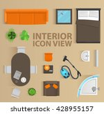 set top view for interior icon... | Shutterstock .eps vector #428955157