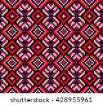 trendy  contemporary ethnic... | Shutterstock .eps vector #428955961