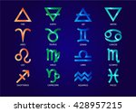 zodiac icons. a full set of... | Shutterstock .eps vector #428957215