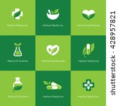 set of herbal medicine icons... | Shutterstock .eps vector #428957821