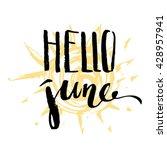 hand drawn ink summer design.... | Shutterstock .eps vector #428957941