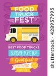 food truck festival menu food... | Shutterstock .eps vector #428957995