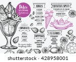 ice cream menu placemat food... | Shutterstock .eps vector #428958001