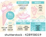 ice cream menu placemat food... | Shutterstock .eps vector #428958019