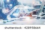 business team meeting.photo... | Shutterstock . vector #428958664