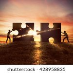 cooperation at work | Shutterstock . vector #428958835