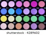 a make up multi colored palette ... | Shutterstock . vector #4289602