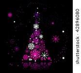 christmas tree beautiful | Shutterstock .eps vector #42896080