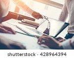 project meeting. team... | Shutterstock . vector #428964394